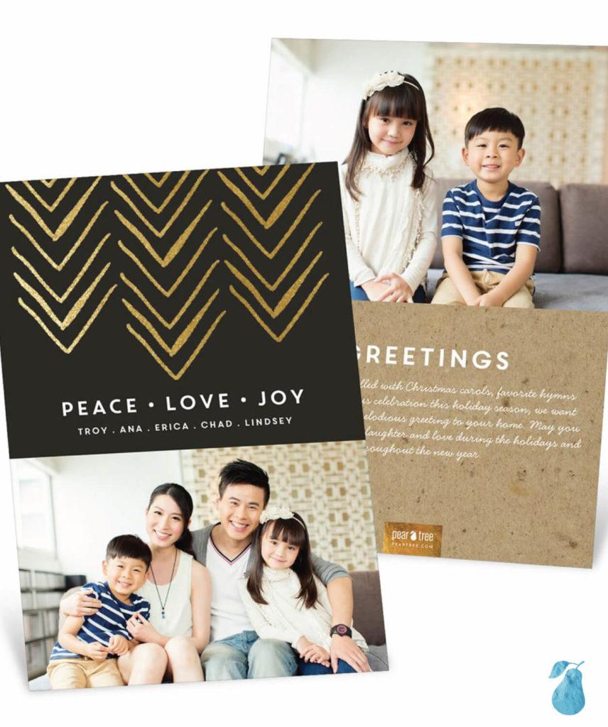 Faux Foil Direction -- Christmas Cards