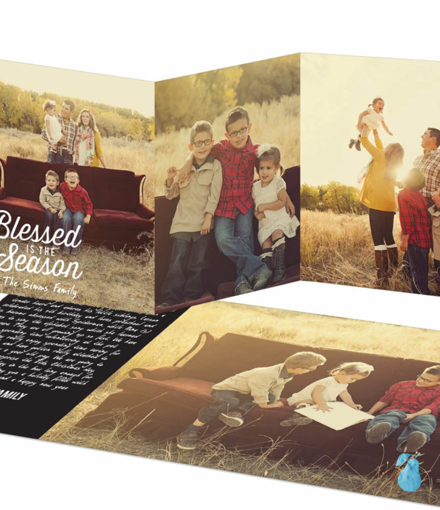 Three Ways With Photo Back -- Religious Christmas Cards
