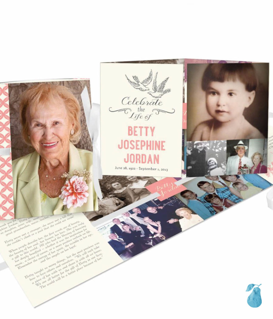 Times Remembered Ribbon Booklet -- Memorial Cards