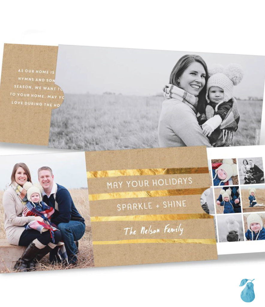 Golden Greeting Slider -- Premium Christmas Cards
