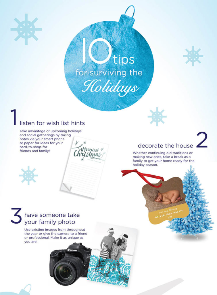 10 Tips for Surviving the Holidays Infographic