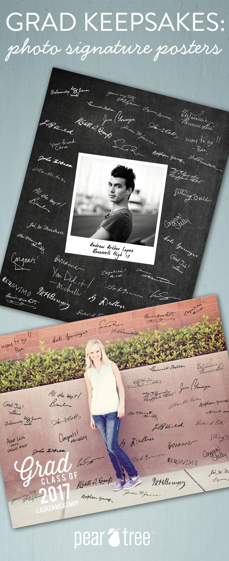Graduation Keepsakes Made Easy: Photo Signature Posters