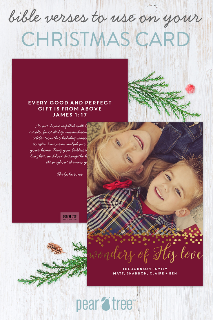 Beautiful Bible Verses to Use on Christmas Cards | Pear Tree Blog
