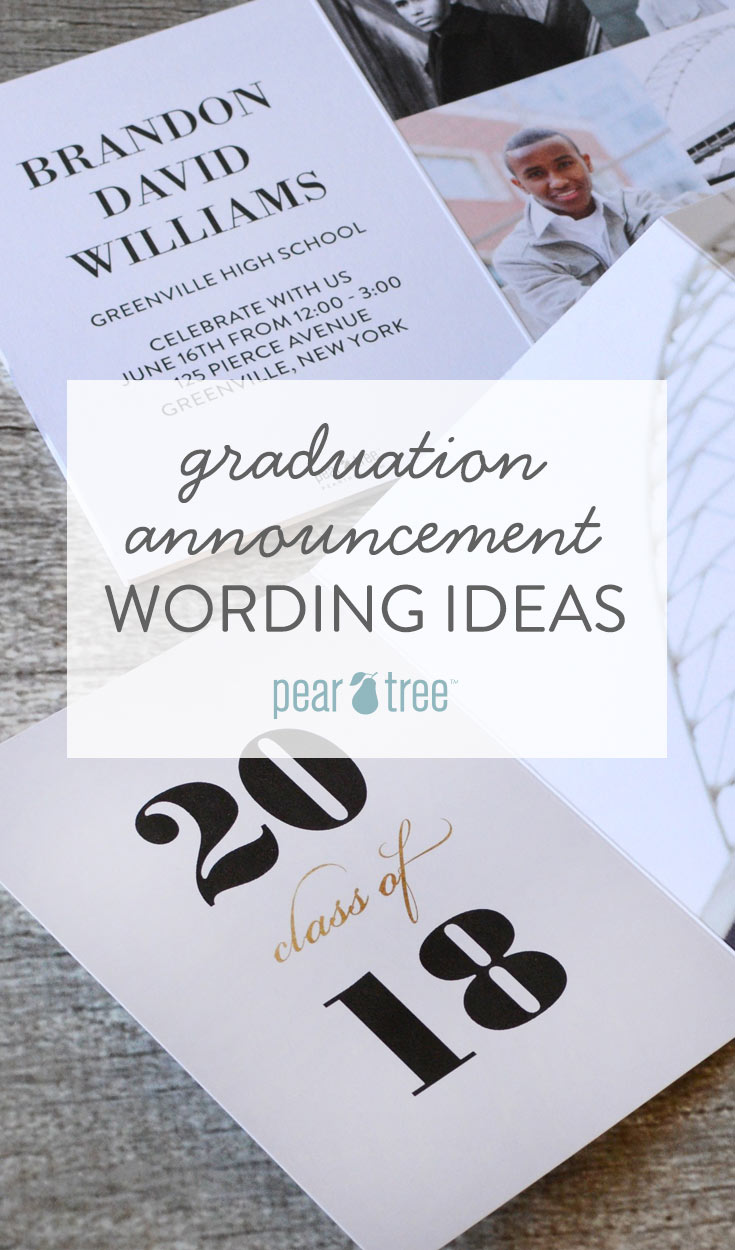Graduation Announcement Wording Ideas Pear Tree Blog