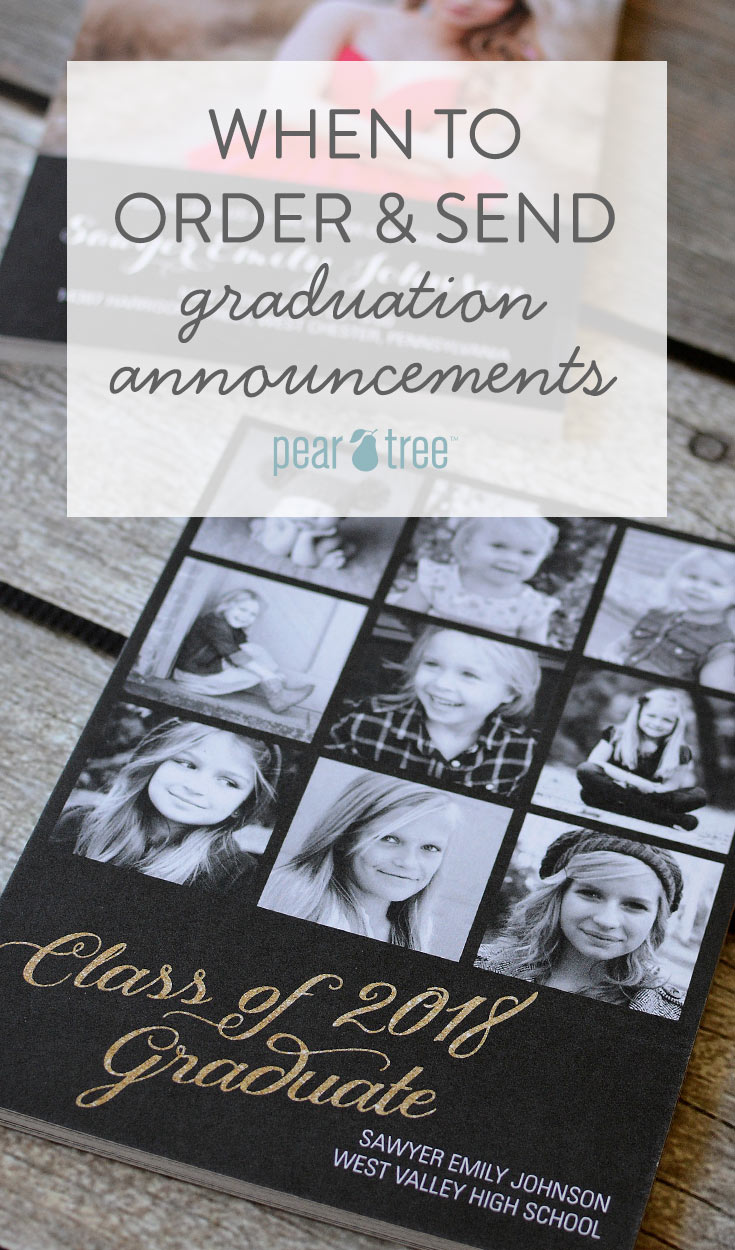 when to order and send graduation announcements