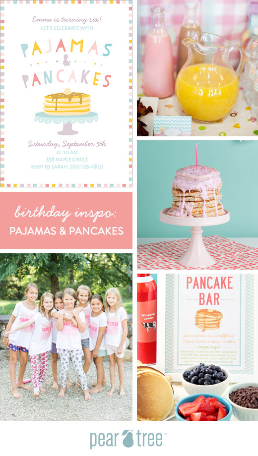 Birthday party inspo pajamas and pancakes pear tree blog your kiddos friends will be delighted to get a piece of mail addressed to them and this new pancakes and pajamas birthday party invitation will filmwisefo
