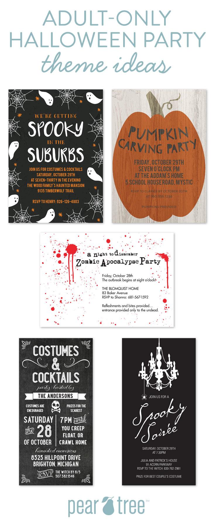 Adult Halloween Party Theme Ideas | Pear Tree Blog