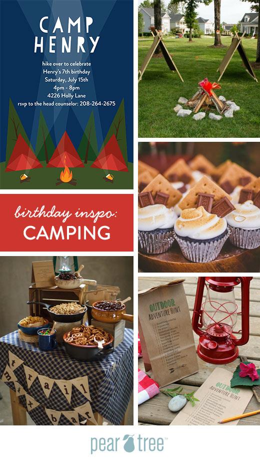 Birthday Party Inspo Camping Theme Pear Tree Blog