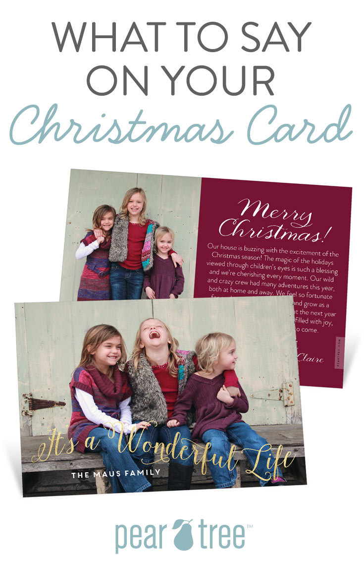 What To Say In A Christmas Letter from www.peartree.com