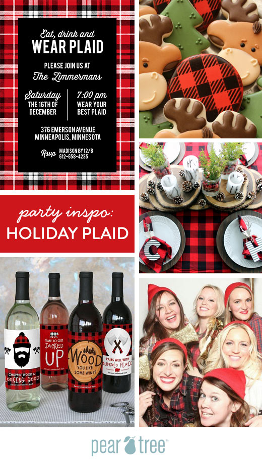 holiday plaid party ideas