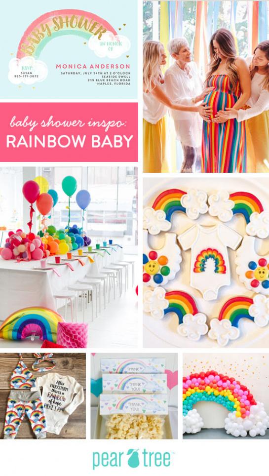 Baby Shower Inspo Rainbow