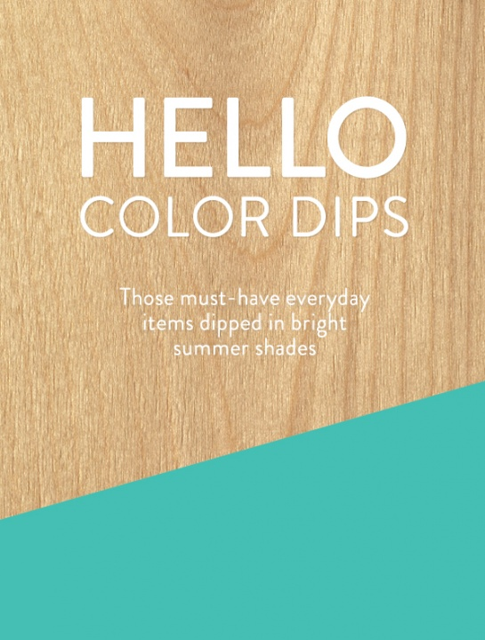 2015 design trend ideas color dips