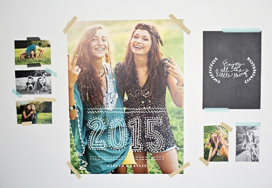 Graduation party ideas - gallery wall