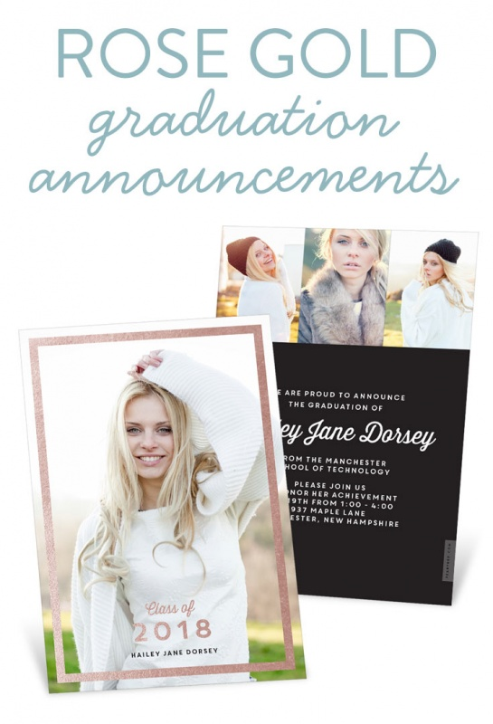 Pear tree blog fresh ideas shared new trending rose gold graduation announcements filmwisefo