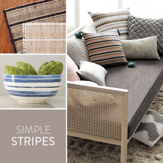 Stripes is one of the most simplistic 2015 design trends and we've spotted this pattern sprinkled across everyday products you'll love!